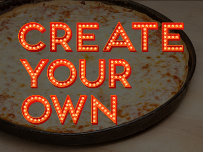 Pizza Thin Crust Create Your Own